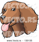 May 3rd, 2018: Vector of Friendly Brown Cocker Spaniel Dog with Its Tongue Hanging out of Its Mouth by David Rey