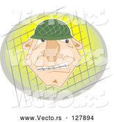 Vector of Frustrated Soldier by Prawny
