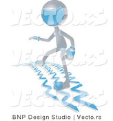 Vector of Futuristic Character Surfing the Web by BNP Design Studio