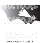 Vector of Futuristic Comet Shooting Through the Night Sky by Xunantunich