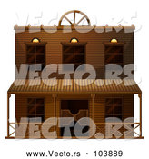 Vector of Ghost Town Saloon Building by Graphics RF