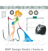 Vector of Girl Spraying out a Garage by BNP Design Studio