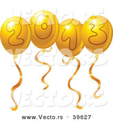 Vector of Gold 2013 Party Balloons by Yayayoyo