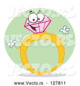 Vector of Gold and Diamond Ring by Hit Toon
