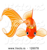 March 24th, 2018: Vector of Goldfish Wearing a Golden Crown by Pushkin