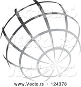 Vector of Gradient Gray Wire Globe by TA Images