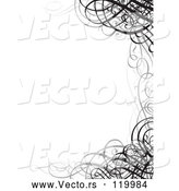 Vector of Grayscale Ornate Swirl Wedding Invitation Border by BestVector