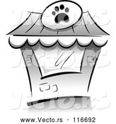 Vector of Grayscale Pet Shop Building by BNP Design Studio