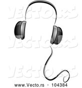 Vector of Grayscale Whimsical Music Headphones by BNP Design Studio