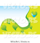 Vector of Green and Blue Globe and Leaf Eco Background - Version 2 by MilsiArt