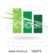 Vector of Green Bar Graph by Cidepix