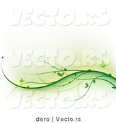 Vector of Green Butterflies Flying over Wavy VinesGreen Butterflies Flying over Wavy Vines by Dero