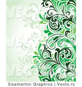 Vector of Green Floral Background Version 10 by Vector Tradition SM