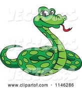 Vector of Green Phython Snake by Vector Tradition SM