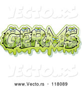 Vector of Green Slimy Monsters Forming the Word Germs by Cory Thoman
