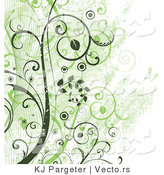Vector of Green Vines Background by KJ Pargeter