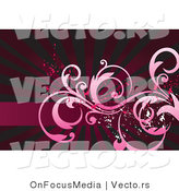Vector of Grunge Splatters over Pink Vines over a Bursting Red BackgroundGrunge Splatters over Pink Vines over a Bursting Red Background by OnFocusMedia