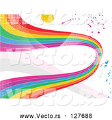 Vector of Grungy Rainbow Wave and Splatter Background by Elaineitalia