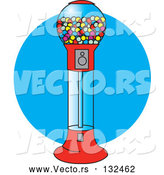 Vector of Gumball Vending Machine Full of Colorful Balls of Chewing Gum by Andy Nortnik