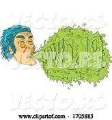 Vector of Guy Coughing Covid 19 Grime Art by Patrimonio