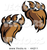 Vector of Hairy Bear Paws by Chromaco