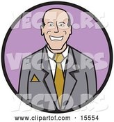 Vector of Happy Business Man Wearing a Suit and Tie by Andy Nortnik