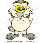 Vector of Happy Cartoon Barn Owl by Dennis Holmes Designs