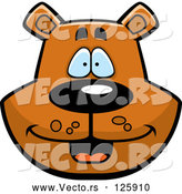 Vector of Happy Cartoon Bear Face by Cory Thoman