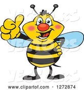 Vector of Happy Cartoon Bee Giving a Thumb up by Dennis Holmes Designs