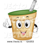 Vector of Happy Cartoon Beverage Cup Mascot Holding a Thumb up by BNP Design Studio