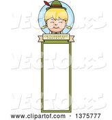 Vector of Happy Cartoon Blond Oktoberfest German Girl Bookmark by Cory Thoman