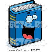 Vector of Happy Cartoon Blue Book by Cory Thoman