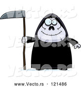 Vector of Happy Cartoon Chubby Grim Reaper by Cory Thoman