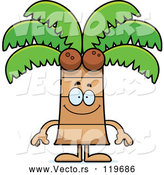 Vector of Happy Cartoon Coconut Palm Tree Mascot by Cory Thoman