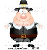 Vector of Happy Cartoon Male Thanksgiving Pilgrim by Cory Thoman