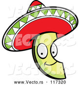 March 24th, 2018: Vector of Happy Cartoon Mexican Avocado Slice with a Sombrero Hat by Cory Thoman
