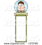 Vector of Happy Cartoon Oktoberfest German Guy Bookmark by Cory Thoman