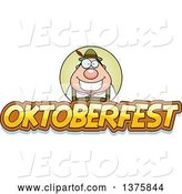 Vector of Happy Cartoon Oktoberfest German Guy by Cory Thoman
