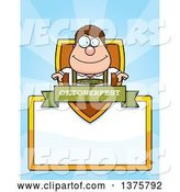 Vector of Happy Cartoon Oktoberfest German Guy Page Border by Cory Thoman