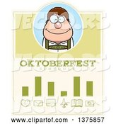 Vector of Happy Cartoon Oktoberfest German Guy Schedule Design by Cory Thoman