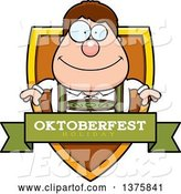 Vector of Happy Cartoon Oktoberfest German Guy Shield by Cory Thoman