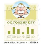 Vector of Happy Cartoon Oktoberfest German Lady Schedule Design by Cory Thoman