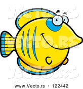 Vector of Happy Cartoon Smiling Butterflyfish by Cory Thoman