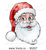 Vector of Happy Christmas Santa Face by AtStockIllustration