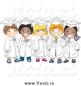 February 1st, 2015: Vector of Happy Diverse Smiling Graduate Kids by BNP Design Studio