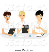 Vector of Happy Female Nurses in a Meeting by BNP Design Studio