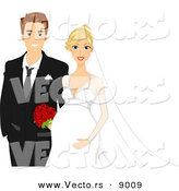 Vector of Happy Newly Weds by BNP Design Studio