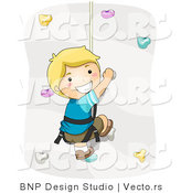 Vector of Happy Rock Climbing by BNP Design Studio