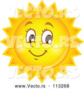 Vector of Happy Summer Sun Character by Visekart
