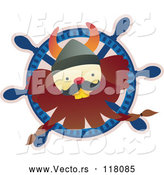 Vector of Happy Viking Guy in a Ships Helm by Cherie Reve
